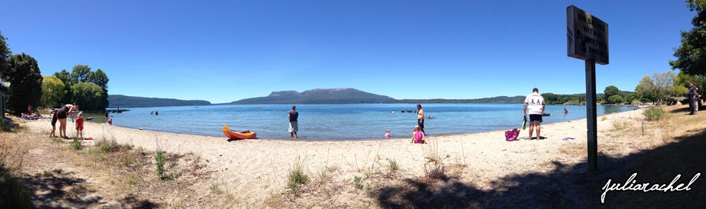 JR scenic - Lake Tarawera panorama