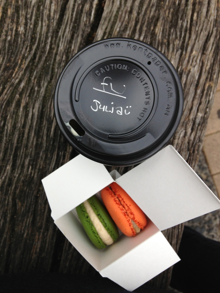Barefoot coffee and macaroons