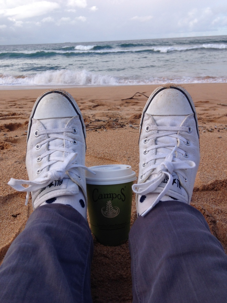Coffee at the beach