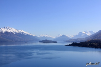 Looking up to towards the top of Lake Wakitipu