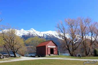 The iconic Glenorchy boatshed