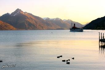 The Earnslaw setting sail