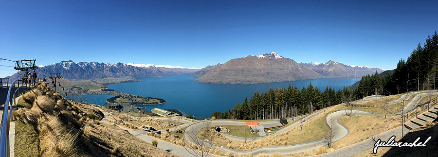 View from the top of the luge in Queenstown